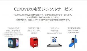 CD・DVD宅配レンタルサービスの説明
