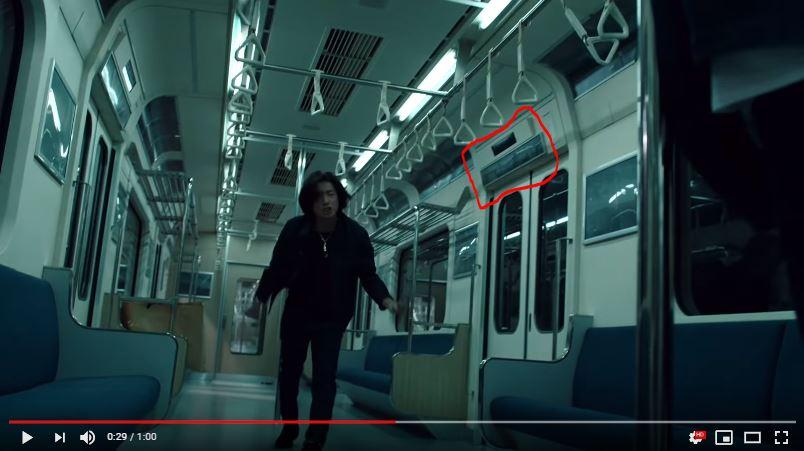 リーバイス新CMのロケ地の電車の駅名表示する部分