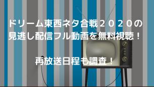 ドリーム東西ネタ合戦2020の見逃し配信フル動画を無料視聴! 再放送日程も調査!
