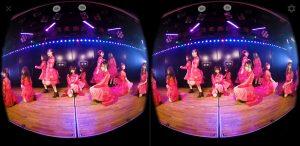 VR動画の再生画面
